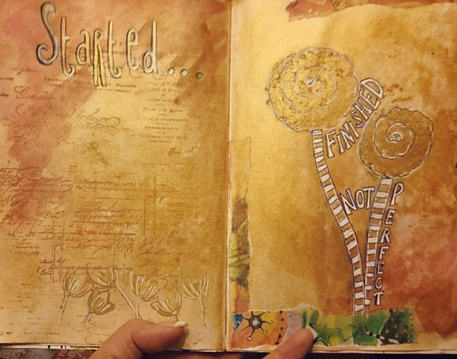Art Journaling Tips - Mixed Media Journal Page by Kerrymay._.Makes