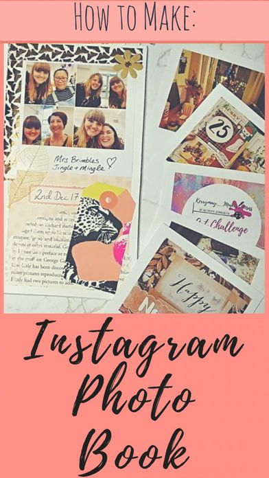 How to make a beautiful Instagram Photo Album / creative journal to store all of your Instagram photos. It's perfect for memory keeping and saving your memories in a photo book and much nicer than a regular photo album -Kerrymay._.Makes