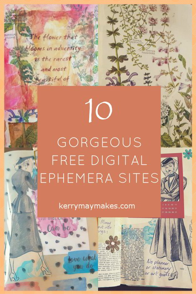 image about Free Vintage Printable named Common Ephemera Printables for Artwork Journaling and Planners