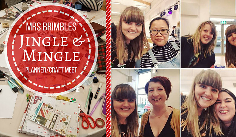 Mrs Brimbles Jingle and Mingle crafting and planner meet up. Such a lovely event, very relaxed and chilled out and full of crafting, planning, insert making and of course shopping for all things planners.