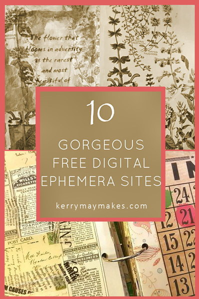 image regarding Free Printable Ephemera named Common Ephemera Printables for Artwork Journaling and Planners