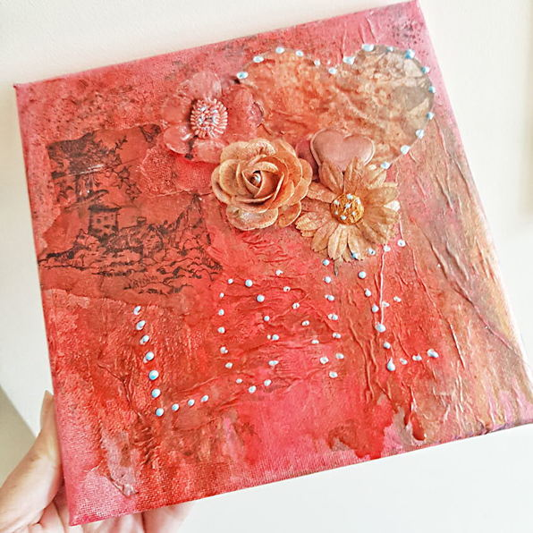 Art For Beginners Creating Mixed Media On Canvas