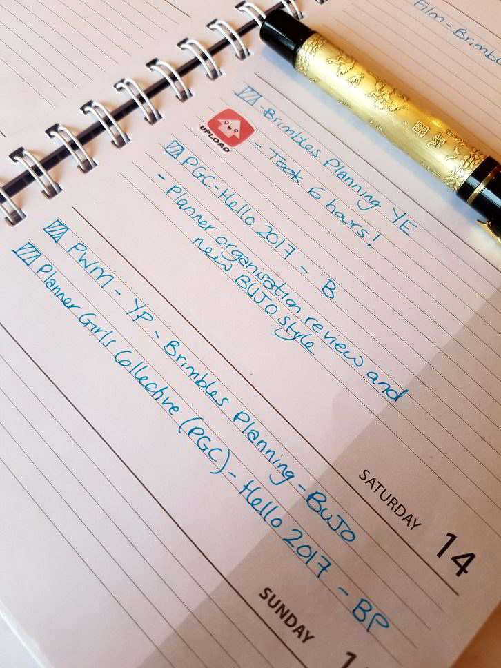 Blog tracking in my blog planner - Kerrymay._.Makes