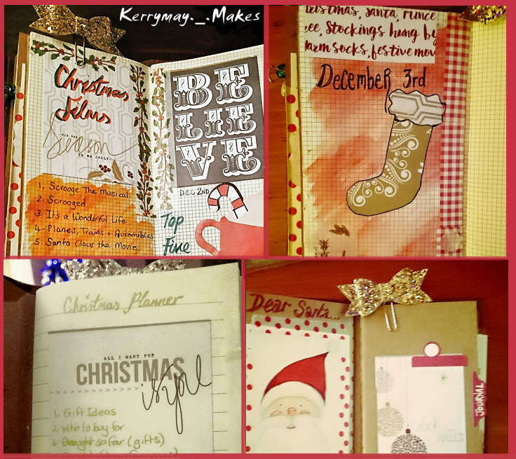 CHRISTMAS PLANNER AND JOURNAL PEEK - Christmas planning in my travelers notebook - Kerrymay._.Makes