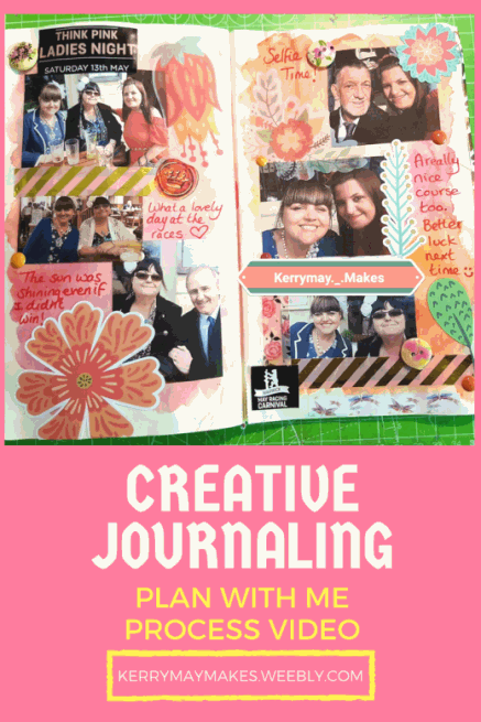 Plan With Me/Creative Journaling process video - Kerrymay._.Makes