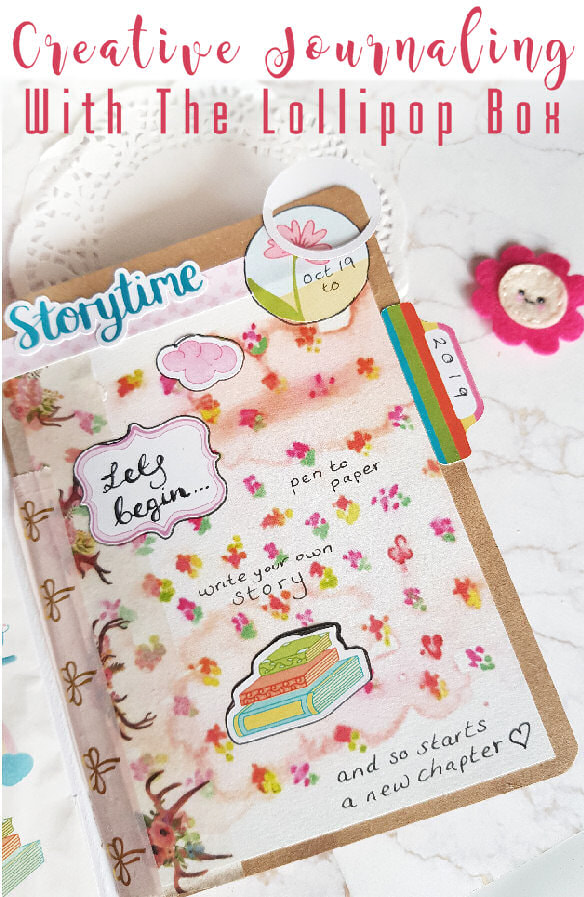 Creative Journaling to tell my story using the Once Upon a Time October 2019 kit from the Lollipop Box Club #creativejournal #creativejournaling #mentalhealthjournaling