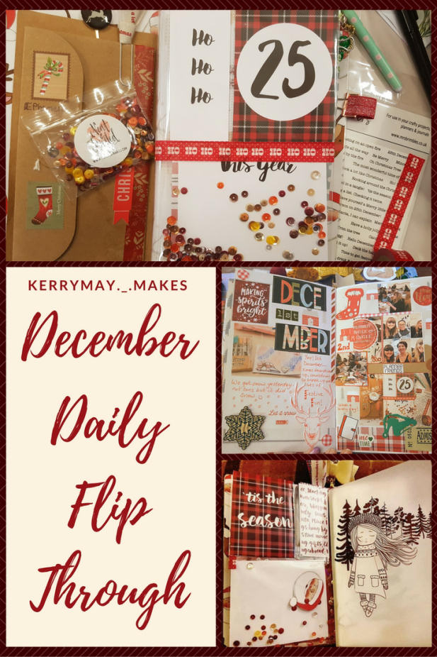 Christmas Planner / December Daily pages flip through documenting my Christmas through creative journaling and memory keeping. - Kerrymay._.Makes
