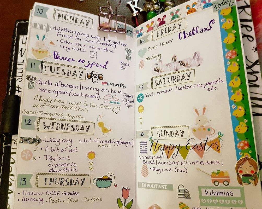 Easter Planner Layout - Kerrymay._.Makes