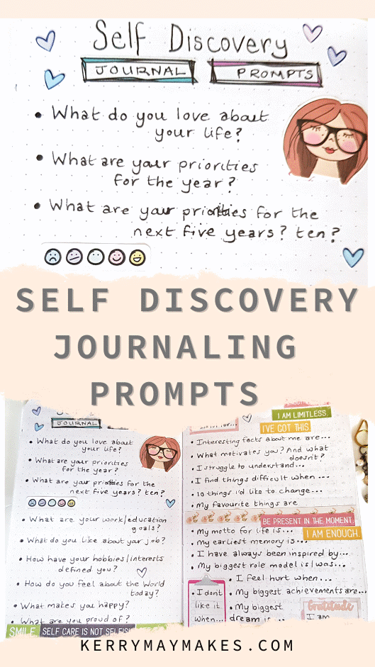 40 Self Discovery Journaling Prompts that you can use in your journals and bullet journals to help you on your way to discovering more about yourself and to get you thinking and to get those creative juices flowing again.