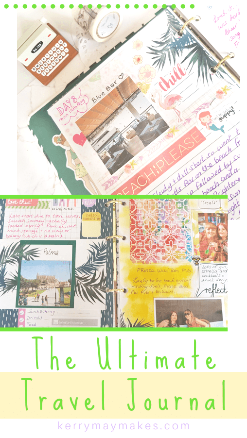 Fully completed ​flip through of my latest travel journal and holiday diary memory keeping in my Wilkos stationery range travel journal #traveljournal #traveldiary #travellog
