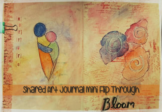 The journal uses a variety of art techniques such as stamps, distressing pages, watercolour, use of salt, acrylic paint and collage.- Kerrymay._.Makes