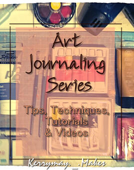Mini Art Journaling Series.  Learn the tips and tricks used to create stunning art journal pages.  Find out top tips, resources, art and paint techniques and get started today - Kerrymay._.Makes