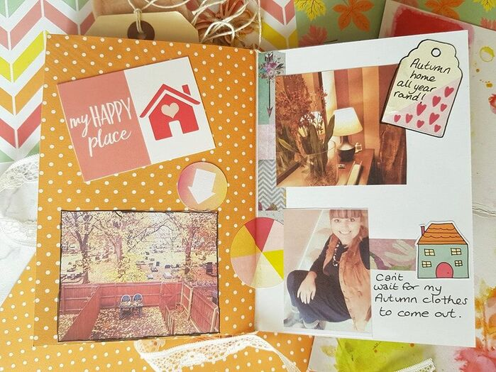 Gorgeous bright junk journal for the The Lollipop Box Club creative team. Today I am sharing a junk journal I have made using the gorgeous September Kit. As part of my own Facebook group Kerrymay Makes A Mess, #junkjournal #creativejournal