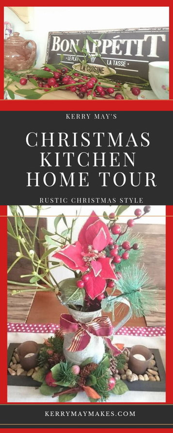 Join me in my Christmas kitchen home tour, my very first one...exciting. This year in my kitchen I have gone for a country rustic feel with the Christmas decorations. #christmaskitchen #rusticchristmas #christmashometour Kerrymay._.Makes