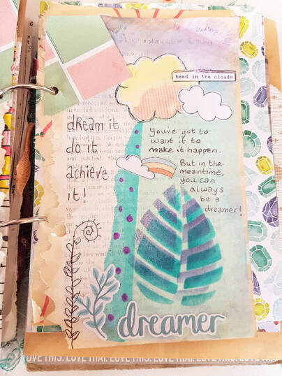 Creative Junk Journaling and memory keeping using altered old book pages and the Lollipop Box February kit. #alteredbookpages #junkjournaling