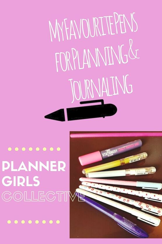 Pens, pens and more pens, a girl can never have too many. I will take you through some of my favourites to use in planners, planning and journaling as part of the Planner Girls Collective. - Kerrymay._.Makes