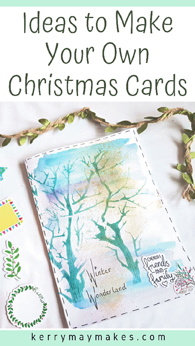 How to make handmade Christmas cards . Ideas to make your own festive cards.