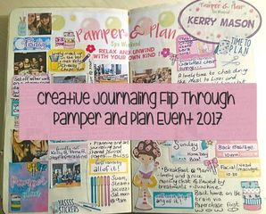 Creative Journal and Planner Flip Through of the Pamper and Plan weekend - Kerrymay._.Makes