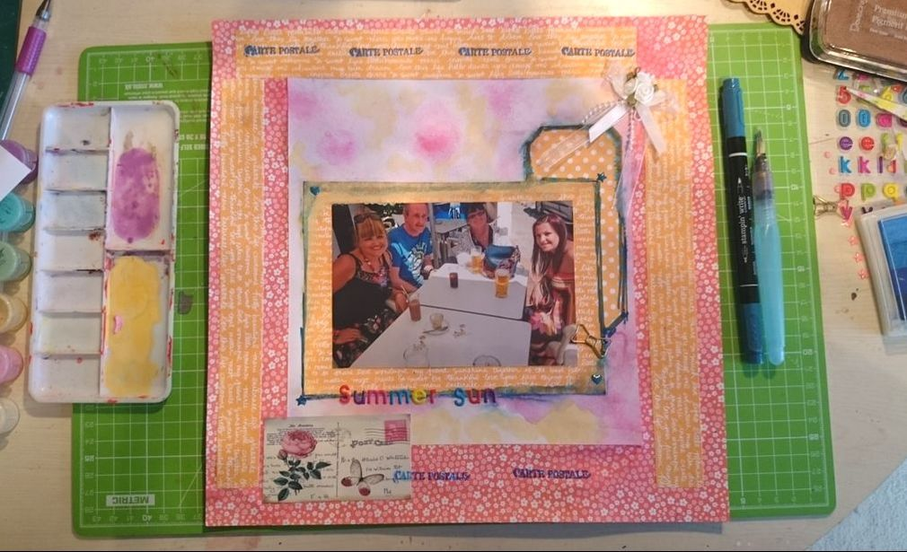 Mothers Day Paper Crafts - 12x12 Scrapbook Page and process video - Kerrymay._.Makes