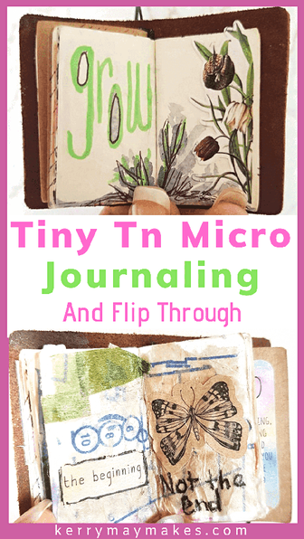 Tiny art journals and micro journaling has really taken off this year. I have used mine for art journaling and mixed media, with a mix of collage, watercolour and layering. #tinytn #microjournal #microart #tinyartjournal #microart