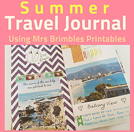 I adore keeping a travel journal, what a perfect way to document your holiday and to save memories. My latest journal took advantage of the patreon resources and printables from Anna Brim's patreon goodies. #mrsbrimbles #traveljournal #adventurejournal #journal - Kerrymay._.Makes