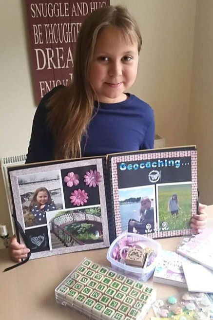 Young Crafter Scrapbook Page: Carys - Kerrymay._.Makes