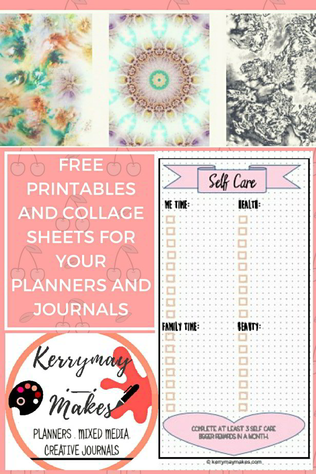 Free collage sheets and planner printables in the Members Goodies area. Sign up to the newsletter for instant access . #freeprintables #travelersnotebookprintables #printablecollagesheets - Kerrymay._.Makes