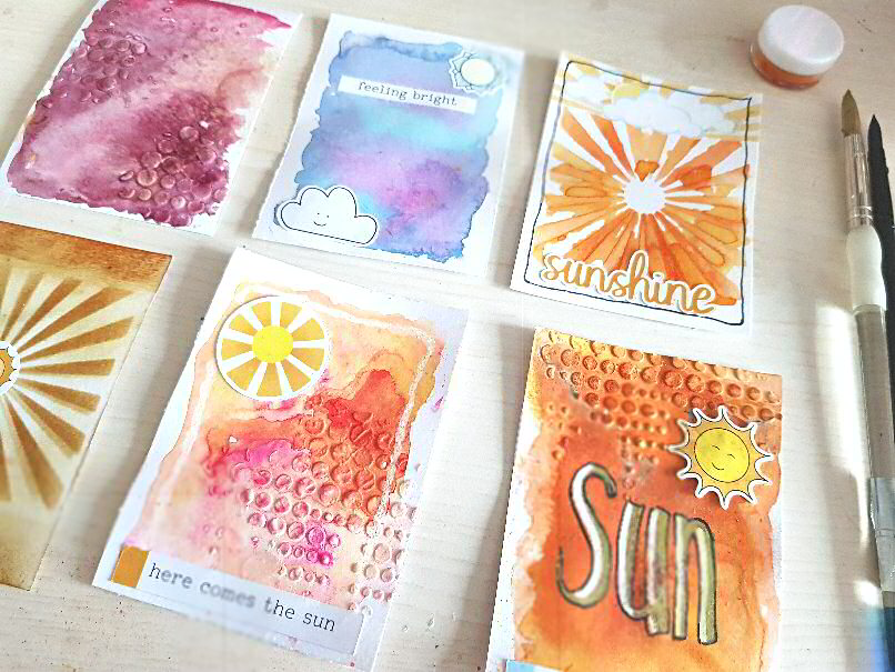 Lollipop Box inspired journaling cards mini tutorial and downloads - Kerrymay._.Makes