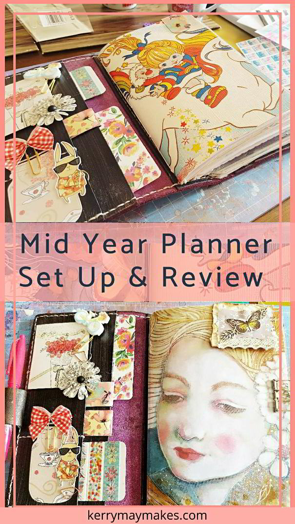 My mid year and current Planner / Travelers Notebook set up using Cocoa Daisy and a personalised dashboard #plannersetup #travelersnotebook Kerrymay._.Makes