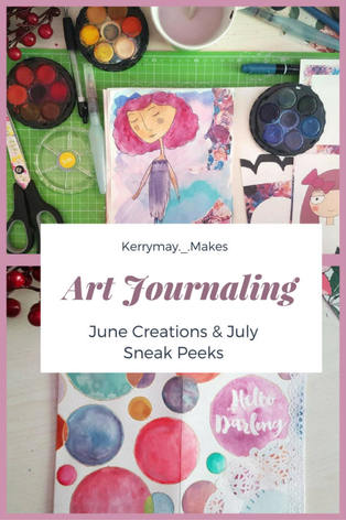Sneak peeks into my art journaling creations and You Tube plans for my creative journals channel for the coming months. - Kerrymay._.Makes