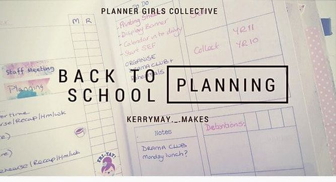 Back to School Planning and teacher planner setup in my Travelers Notebook - Kerrymay._.Makes