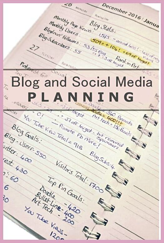 How I plan for my blog and social media in my blog planner #blogplanning #blogplanner #socialmediatracking - Kerrymay._.Makes