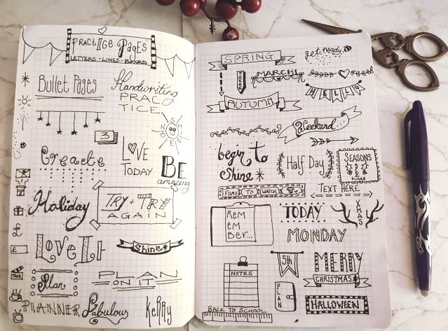 Bullet Journal Doodles - Kerrymay._.Makes
