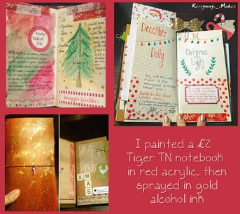 CHRISTMAS PLANNER PEEK - Take a peek inside my Christmas Planner/journal - Kerrymay._.Makes