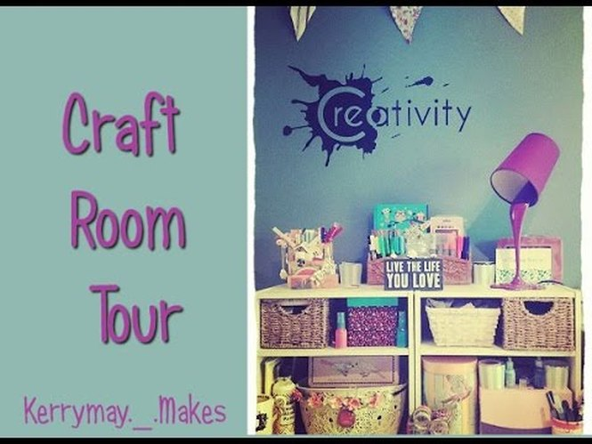 A video tour of my craft and art room including my work area, desk, storage and equipment. Kerrymay._.Makes