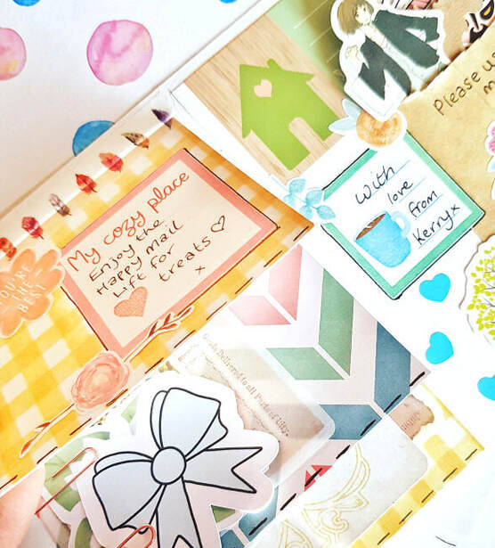 How to make a happy mail flip book to send as snail mail #snailmail #happymail #flipbook