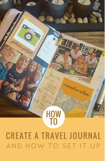 How to create a Travel Journal and how to set it up - Kerrymay._.Makes #traveljournal #creativejournal #travelplanner