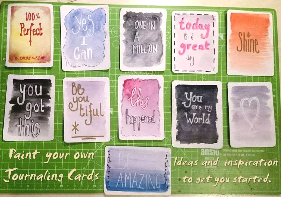 3x4 and 4x6 journaling cards mini tutorial and downloads - Kerrymay._.Makes