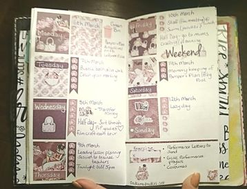 Weekly planner layout using a kit by oodlemadoodles, page by Kerrymay._.Makes