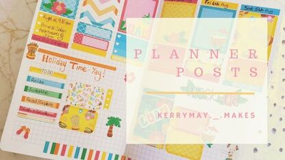 My planner blog posts for planner layouts, spread ideas, layouts, ideas and pretty pages. - Kerrymay._.Makes