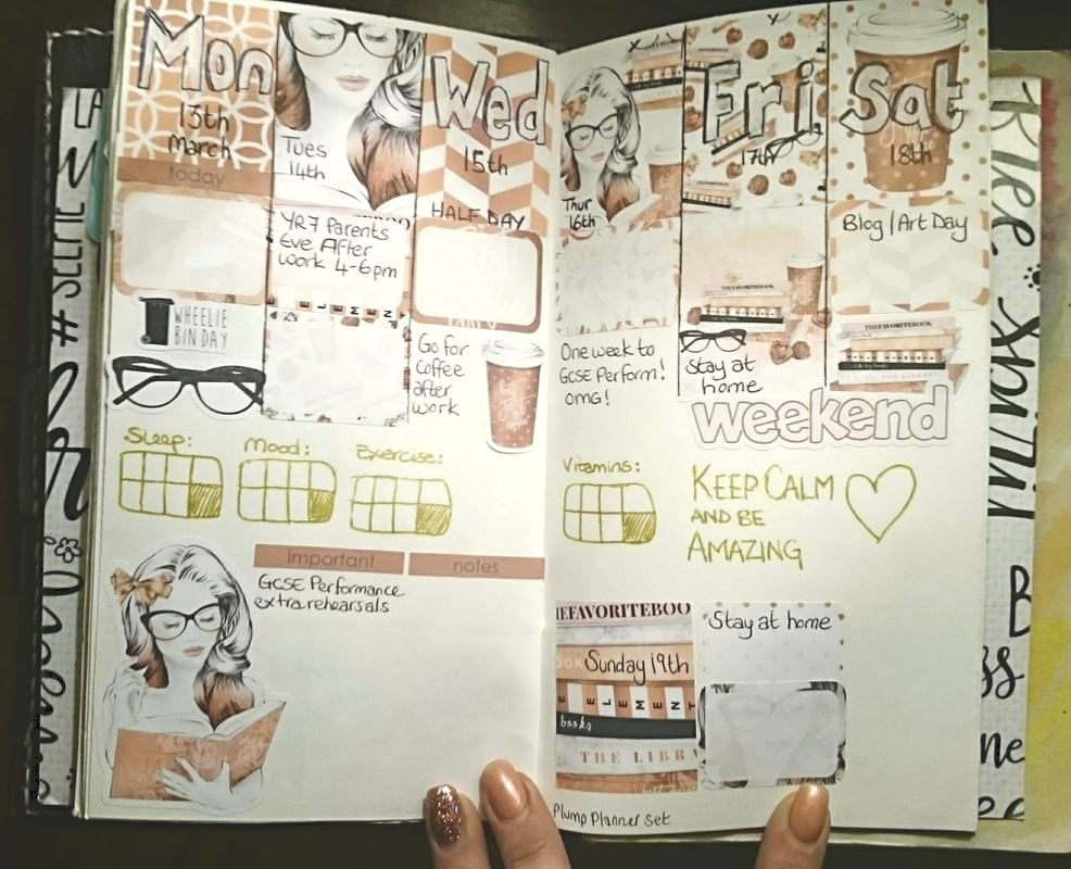 Weekly planner layout, kit by The Plump Planner, page by - Kerrymay._.Makes