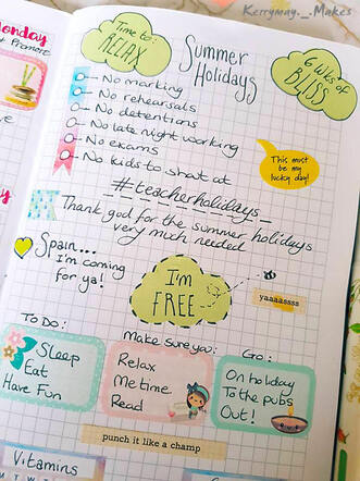 Summer holiday planning and creative journaling in my Travelers Notebook - Kerrymay._.Makes