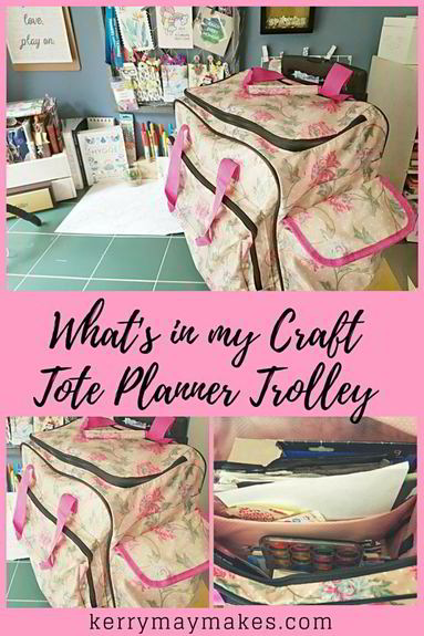A quick peek in to my portable craft tote trolley full of my art and planner supplies. Kerrymay._.Makes #crafttote #whatsinmybag