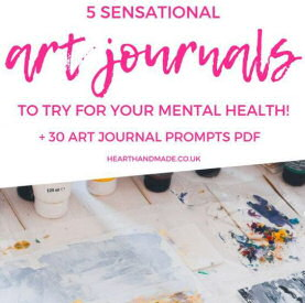Featured guest post over on hearthandmadeuk all about 5 types of journaling styles - 5 Soulful Art Journaling Styles