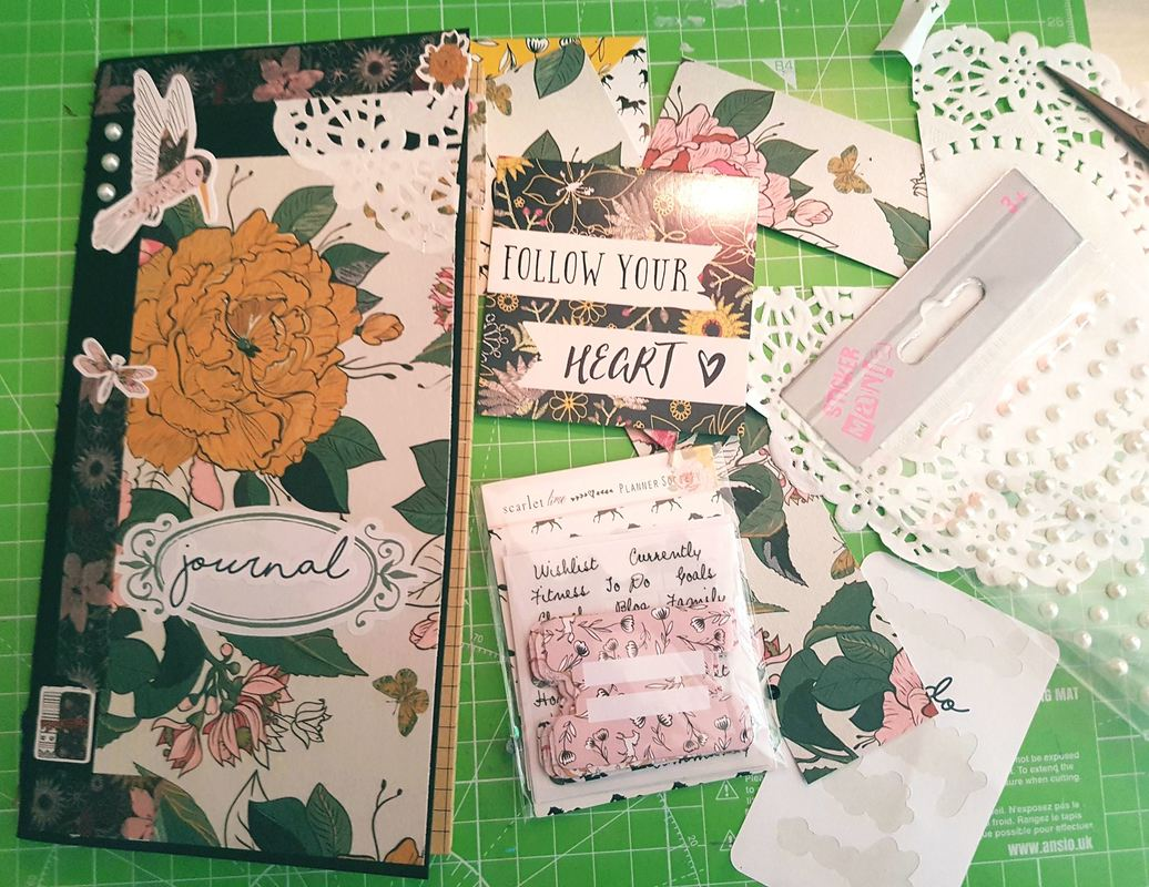 Travelers Notebook cover that I made from the stunning April Kit from The Planner Society - Kerrymay._.Makes