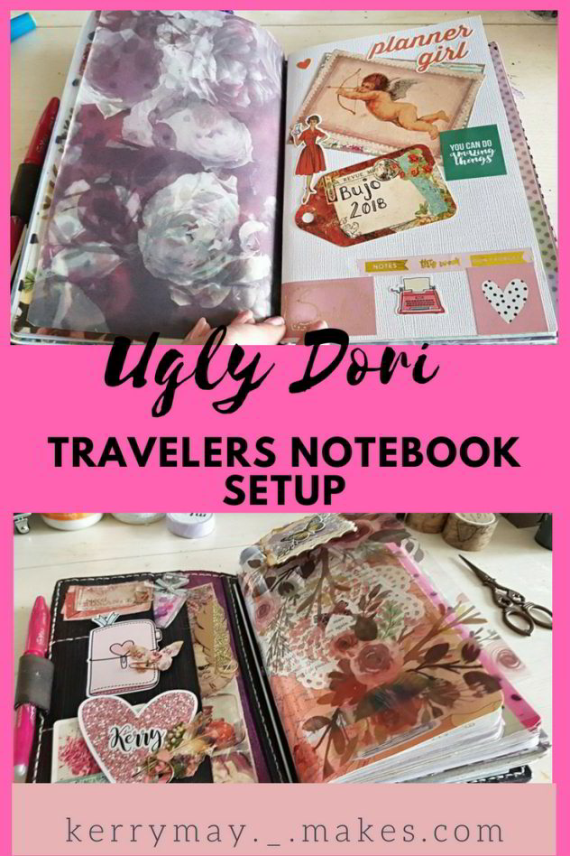Flip through of my current setup of how I am currently using my stunning Ugly Dori and planner setup video - Kerrymay._.Makes #Uglydori #travelersnotebook #tnsetup