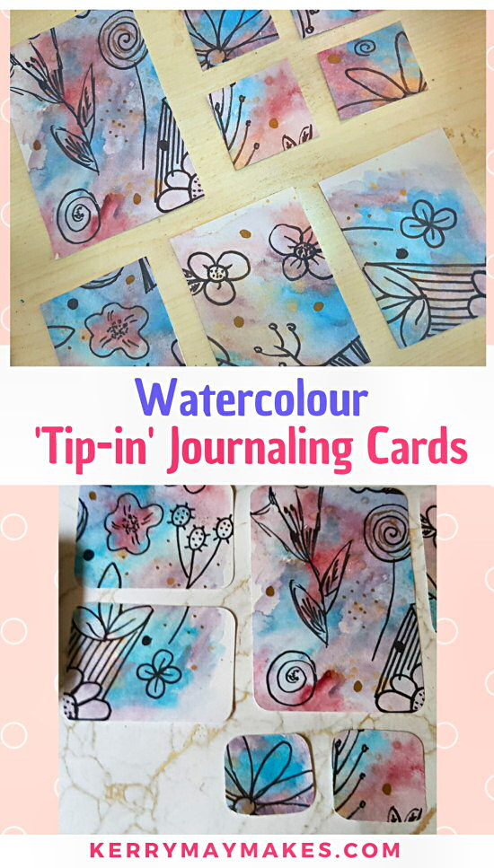 Watercolour tip in doodle journal cards, atc cards and art postcards; art process, inspired my Mrs Brimbles #watercolourvideo #atccards #watercolourjournalcards #artprocess